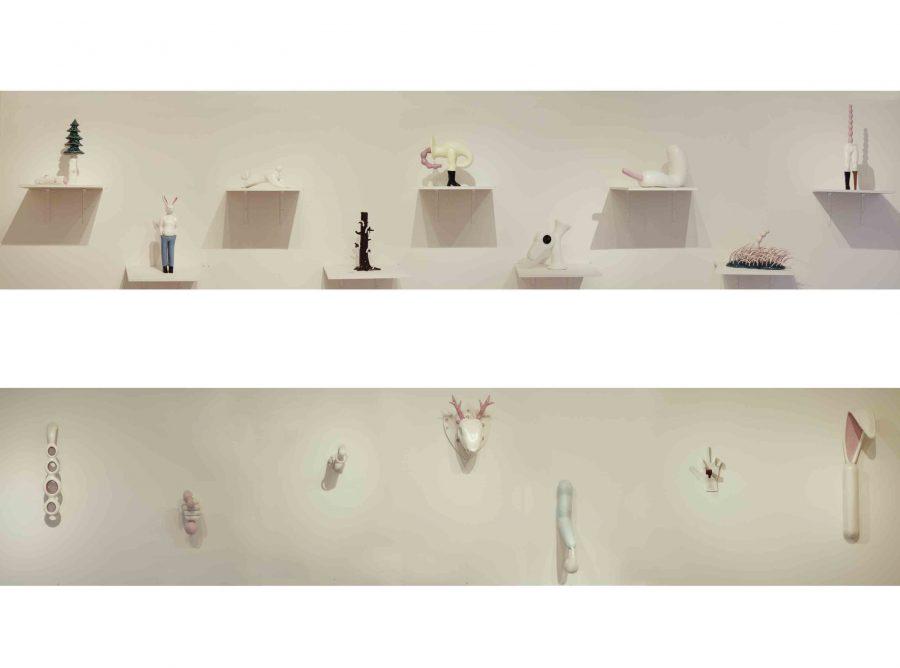 INCORRECT INTERPRETATION <p>Jeffrey Haines<br /> Céramiques<br /> Vue d'ensemble</p>  - Helenbeck Gallery Nice