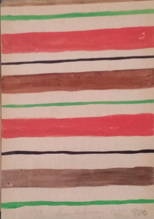 ESTIVAL MINIMAL <p>Sonia Delaunay<br /> <em>Dessin sur tissu 1928</em><br /> Aquarelle sur papier 21 x 29 cm</p>  - Helenbeck Gallery Nice