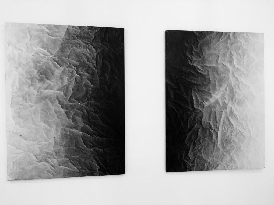 ESTIVAL MINIMAL <p>Jean Von Luger<br /> Ange 2016 – Lara 2016<br /> Huile sur toile 97 x 130cm chacun</p>  - Helenbeck Gallery Nice