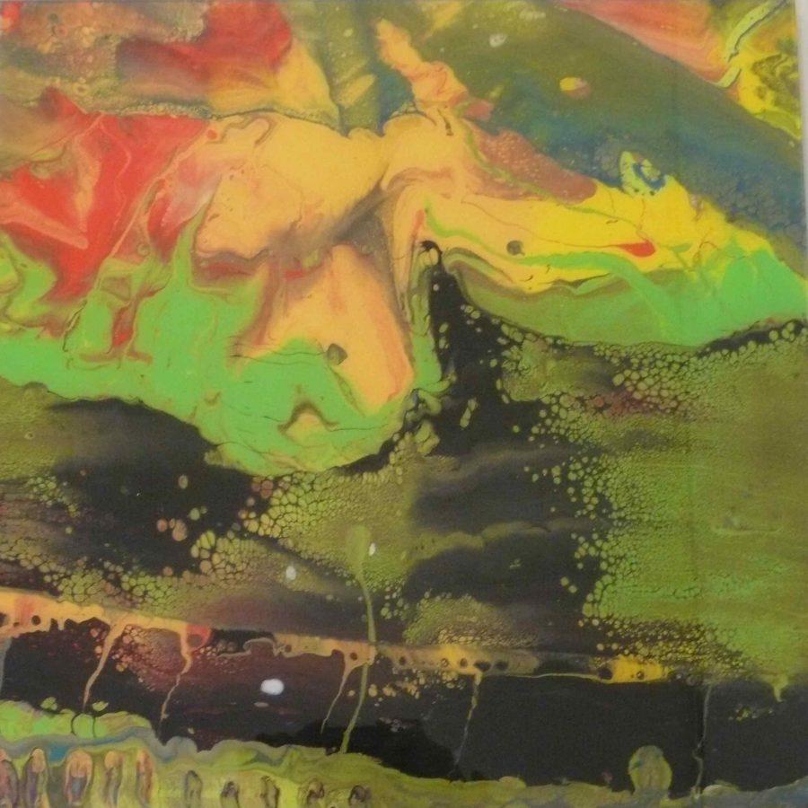 """GERHARD RICHTER PRINTS <p>"""" Flow 2013 """"<br /> N° 426 / 500 Facsimile object of<br /> Gerhard Richter Flow Catalogue raisonné 934-9, 2013.<br /> 2014<br /> Diasec mounted chromogenic print on aluminium.<br /> 45 x 45 cm</p>  - Helenbeck Gallery Nice"""