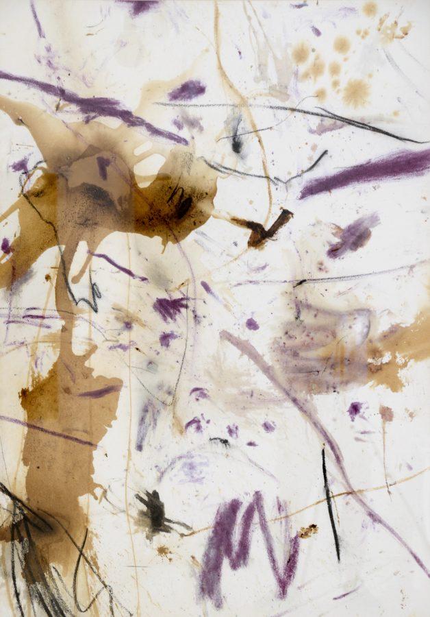 ESTIVAL MINIMAL <p>Quentin Derouet<br /> <em>La rose de personne 2016</em><br /> Rose, rose brulée, rose macérée sur papier. 96 x 136 cm</p>  - Helenbeck Gallery Nice