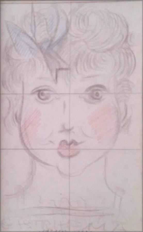 ESTIVAL MINIMAL <p>Victor Vasarely<br /> <em>Sans titre 1939</em><br /> Crayon sur papier 27 x 18 cm</p>  - Helenbeck Gallery Nice
