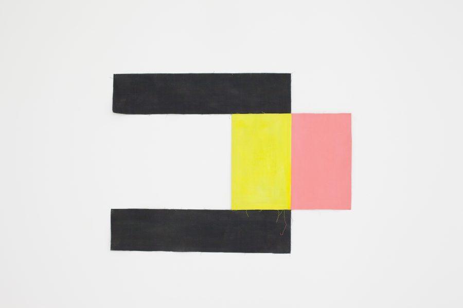 NICE ALL OVER <p>LouisCane<br /> 1973 – Toile découpée, huile sur toile métissée et pliée-toile – signée et datée au dos – 100 x 75</p>  - Helenbeck Gallery Nice